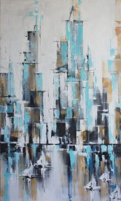 City Abstract Painting Artworks Original Cityscape Painting