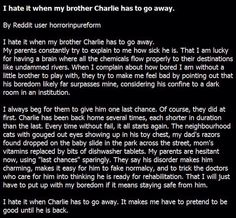 I Hate When My Brother Charlie Has to Go Away