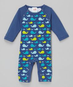 Another great find on #zulily! nktoo by Nohi Kids Blue Whale Romper by nktoo by Nohi Kids #zulilyfinds