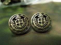 Campus Emblem Metal Buttons , Antique Brass Color , Shank , 0.47 inch , 10 pcs by Lyanwood, $4.00