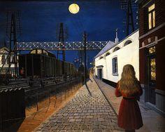 Paul Delvaux - Samotność (1955)