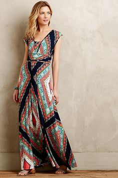 I love the cut, color, geometric designs in this dress. It's beautiful and a fav! I would love a dress like this Stitch Fix!