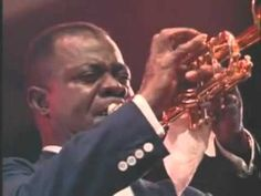 Smooth fingered, raspy voiced Louis Armstrong at Newport Jazz Festival When the Saints Go Marching In - YouTube