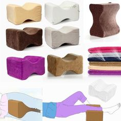 26X20X15cm Cool Gel Memory Foam Knee Leg Pillow Back Hip Pain Relief Therapy