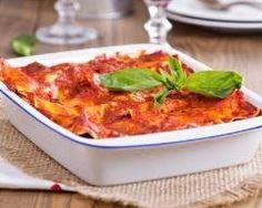 Lasagnes veggie aux tomates et au basilic…