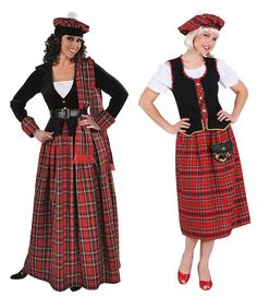 Schotte Schottin Scottish Girl Lady Rock Sexy Dudelsack Kostüm Kleid Damen Mütze