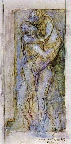 Auguste Rodin, I love how minimal lines can say more that a defined image