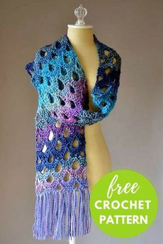 Zeppelin Scarf Free Crochet Pattern Easy One Skein Crochet Project