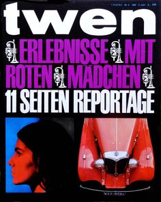 Willi Fleckhaus, editorial design for german magazine twen, issue 8, 1962