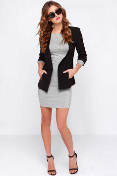 LULUS Exclusive Comeback Baby Grey Dress at Lulus.com!