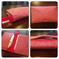 Red Swirls Diaper Clutch / Wristlet by JerseyPeachDesigns on Etsy, $35.00