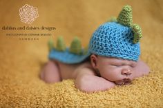 Dallas Newborn Photographer - newborn boy dinosaur