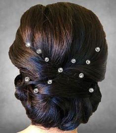 6 Swarovski Crystal Hair Coil, Twist, Wedding Party, Bride, Cheer, Proms or Any Special Event
