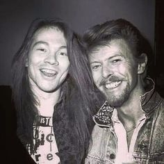 David Bowie and Axl Rose.