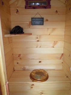 My Trophy Amish Cabin Cabin Bathrooms, Outdoor Bathrooms, Tiny House Cabin, Log Cabin Homes, Building An Outhouse, Amish Cabins, Outhouse Bathroom, Outdoor Toilet, Glamping