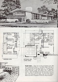 1963 Mid-Century Modern house with floorplan