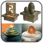 Epic Dekorative Tischbrunnen aus mit Natursteinen und nat rliche Bambus Zimmerbrunnen Pinterest