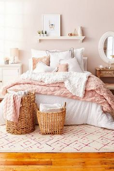 Pink Bedroom Decorating Ideas Lovely Blush Pink Bedroom Ideas Dusty Rose Bedroom Decor and Girls White Bedroom Set, Dusty Pink Bedroom, Blush Pink Bedroom, Rose Bedroom, White Bedroom Decor, Pink Bedrooms, Pink Room, Room Ideas Bedroom, Bedroom Sets