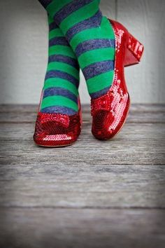 Dorothy's shoes.....the Wizard of Oz starts in a setting from Liberal, Kansas. Liberal in Western Kansas has an Oz adventure museum.