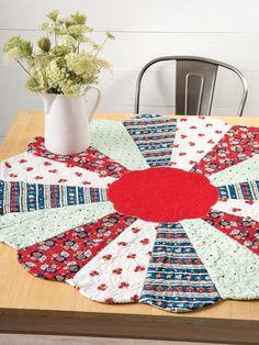 """Cherry 40"""" Round About Quilt Pattern"""