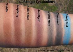 e.l.f Single eyeshadow Swatches.