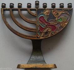 1950s-Israel-Dayagi-Menorah-Macabees-Pouring-the-Oil