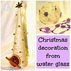 Tutorial: Christmas decoration from water glass