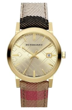 This elegant gold and Burberry check watch is timeless, and will never going out style. Definitely investing in this piece from the NSale.