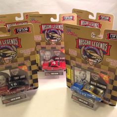 NASCAR LEGENDS Assorted Lot of 5  SCALE 1:64 collector's card #1 #4 #16 #17 #21 #RacingChampions #assorted