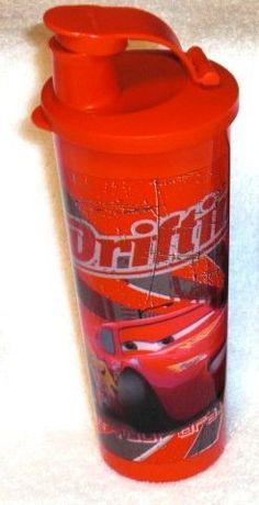 Tupperware Disney's Cars Design Tumbler by Tupperware. $12.50. Disney's Cars Design. Flip top seal. 16 oz tumbler. Keep your child's engine running smoothly with this tumbler featuring characters from Disney's Cars! 16-oz/470mL tumbler with virtually liquid-tight seal and flip-top spout. Color : Black/Chili