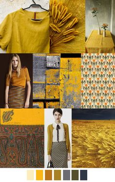 F/W 2017 Women's Colors Trend: SAFFRON SPICE