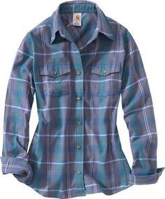 Carhartt® Women's Midweight Flannel Shirt, Women's Long Sleeve Shirts, Women's Tops, Women's Clothing, Clothing : Cabela's