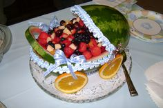 @Alyna Fehmer Granny made this for her baby shower, super cute!! Love watermelon too!!