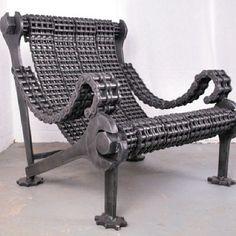 Industrial Art Furniture: Weighty Designs Reclaimed Steel by Stig (UPDATE) Art Furniture, Industrial Furniture, Industrial Design, Automotive Furniture, Furniture Design, Modern Industrial, Industrial Closet, Industrial Windows, Kitchen Industrial