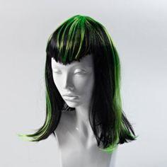 Vampire green wig