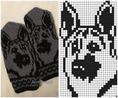 Best Picture For handstulpen stricken zopfmuster For Your Taste You are looking for something, and i Double Knitting Patterns, Knitted Mittens Pattern, Animal Knitting Patterns, Knit Mittens, Knitting Charts, Knitted Gloves, Baby Knitting, Cross Stitch Patterns, Crochet Patterns