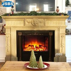 Marble Fireplace Mantel www.jsbluesea.com info@jsbluesea.com whatsapp wechat:0086-13633118189 #fireplace #stonefireplace #fireplacemantel #jsbsmarble #jsbsstone #JSBS #renovation #restoration #marbledecor #housedecor Marble Fireplace Mantel, Marble Fireplaces, Fireplace Mantels, Marble Columns, Stone Columns, Chinese Valentine's Day, Marble Carving, Stone Fountains, Stone Veneer