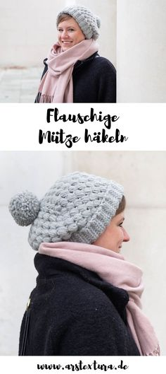 Crochet cozy cap - Crochet Instructions: Crochet cap with tufts - Bonnet Crochet, Crochet Hats, Knitting Blogs, Knitting Patterns, Crochet Cozy, Summer Knitting, How To Start Knitting, Crochet Instructions, Diy Blog
