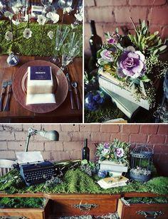 Buena idea para incluir en la mesa de las cartas. Una máquina de escribir