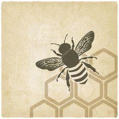 Télécharger - Fond vieux abeille — Illustration #39392483