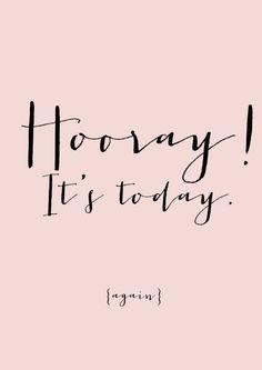 hooray + it's friday