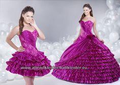 Fuchsia Ballkleid Mit Raffungen Brautkleid Abendkleid Online