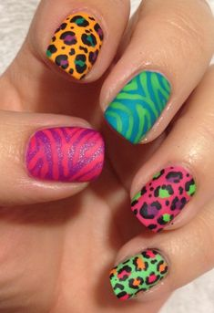 Lisa Frank | 21 Easy Nail Art Designs You Can Wear All Year Round