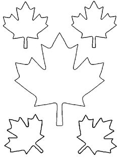 downloadable maple leaf template for your canada day crafts leaf