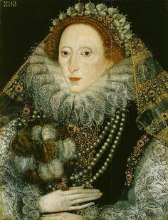 ELIZABETH I OF ENGLAND (1533–1603), last TUDOR monarch over England reigned 1558–1603 ~ Royal Collection