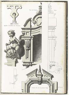 Architecturale elementen, anoniem, ca. 1866 - ca. 1900