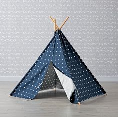 Navy Cross Print Teepee | The Land of Nod