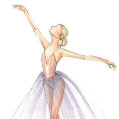 Dancer study, sketch by Holly Nichols.