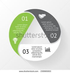Vector circle triangle infographic. Template for diagram, graph, presentation and chart. Business concept with 3 options, parts, steps or processes. Abstract background.
