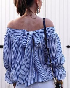 How cute is the bow detail on this off the shoulder top? Details, plus my top picks for off the shoulder tops on threadsforthomasblog.com @liketoknow.it www.liketk.it/2gBlV #liketkit
